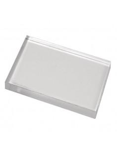 Base timbri in acrilico cm. 10x8,5x1cm