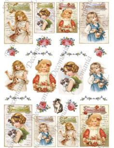 Carta Riso Decomania Bambini e Animali 5357