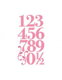 Marianne Design Elegant Numbers & Flourishes COL1418