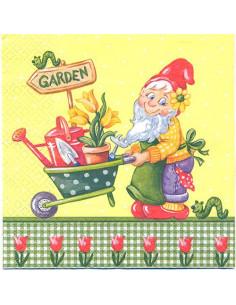 Tovagliolo gnomo giardiniere