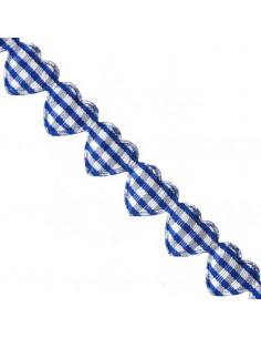 Nastro Cuori Azzurri imbottiti 1,5cm x 1mt