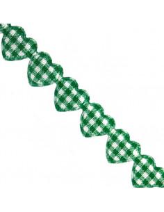 Nastro Cuori Verdi imbottiti 1,5cm x 1mt