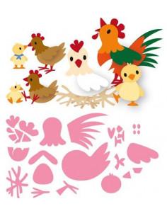 Marianne Design Chicken family COL1429