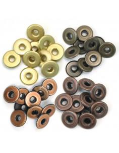 Set 40 Occhielli 0,5cm Metalli caldi