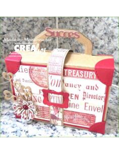 Fustella Crealies Create A Box n7, Valigia CAB07