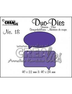 Fustella Duo n.18, Speech bubbles CLDD18