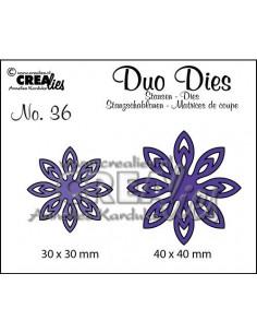 Fustella Duo n.36, Flowers 18 CLDD36