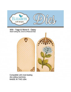 ELIZABETH CRAFT DIE - Tags & More 6 - Daisy EC959