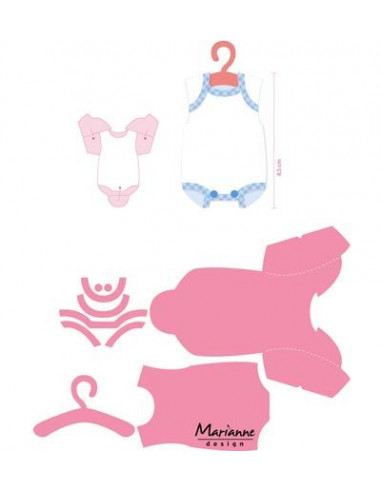 Marianne Design Eline's baby onesie COL1419