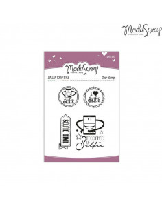 ModaScrap Clear Stamps MSTC 1-004 - Sentiments n.04