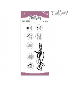ModaScrap Clear Stamps MSTC 1-021 - Sentiments n.021