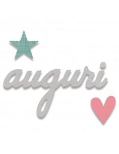 Fustella Sizzix Bigz - Auguri (Best Wishes) 662117