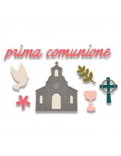 Fustella Sizzix Thinlits Die Set 9PK - Prima Comunione 662116