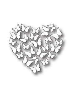 Fustella Memory Box Butterfly Heart MB98778