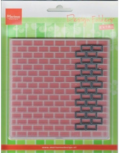 Marianne Design Embossing Folder Bricks(Includes matching die!) DF3403