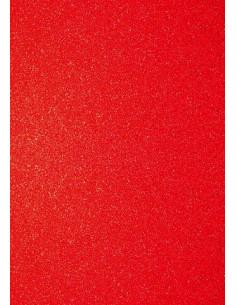 Foglio A4 Glitter Rosso 200gr