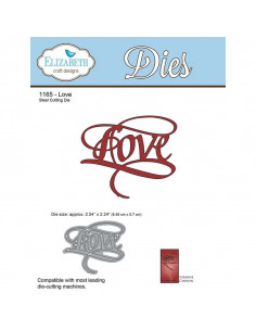 ELIZABETH CRAFT DIE - Love EC1165