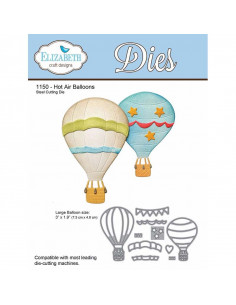 ELIZABETH CRAFT DIE - Hot Air Balloons EC1150