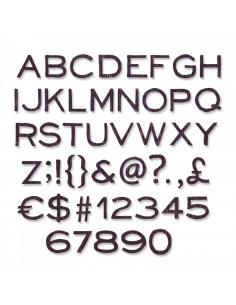 Fustella Sizzix Thinlits Set 121Pz - Alphanumeric, Thin 662226