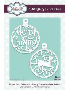 Fustella Paper Cuts Collection Merry Christmas Bauble Duo CEDPC1025