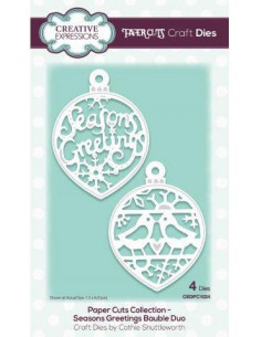 Fustella Paper Cuts Collection Seasons Greetings Bauble Duo CEDPC1024