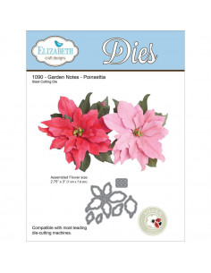 ELIZABETH CRAFT DIE - Garden Notes-Poinsettia EC1090