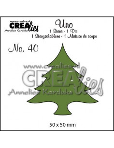 Fustella Uno n.40 Christmas tree wide CLUno40