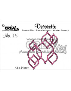 Fustella Decorette no.15 Interlocking shapes CLDR15