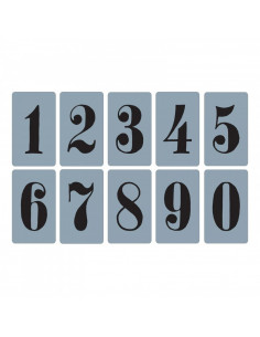 Sizzix Texture Trades Libretti Embossing 10Pz - Numbers Set 658573