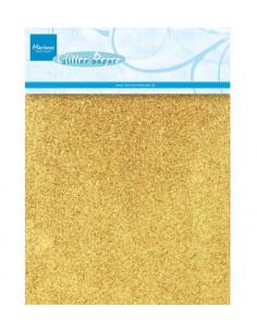 Set 5 Fogli A5 Glitter Oro 250gr