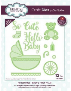 Fustella The Necessities Collection - Baby's First Pram CED23007
