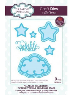 Fustella The Fillables Collection Twinkle Cloud and Stars CED21015