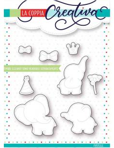 Fustella La Coppia Creativa Elefanti RU239