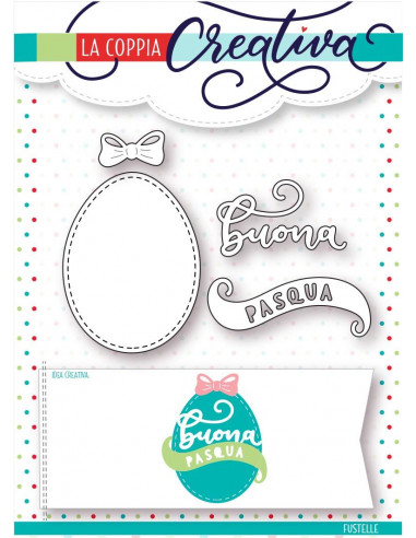 Fustella La Coppia Creativa Buona Pasqua 2 RI245