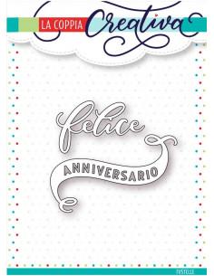 Fustella La Coppia Creativa Felice anniversario RI246