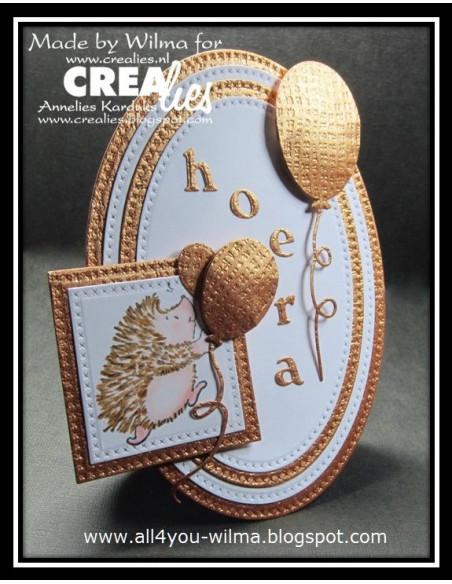 Fustella Crealies Crea-Nest-Lies Small set di 4 palloncini ovali CNLS15.