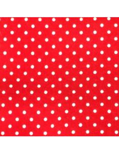 Foglio FELTRO 30x40cm 1mm POIS Rosso-Bianco 25017108