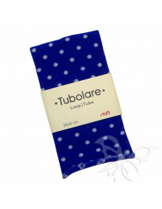 Tubolare Stafil 30 x 8cm Pois Blu-Bianco 74705009
