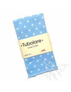 Tubolare Stafil 30 x 8cm Pois Azzurro-Bianco 74705001