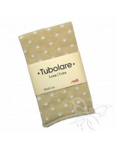 Tubolare Stafil 30 x 8cm Pois Beige-Bianco 74705003