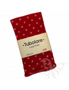 Tubolare Stafil 30 x 8cm Pois Rosso-Panna 74705004