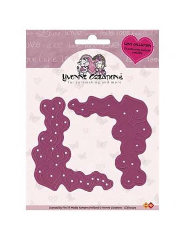 Fustella - Yvonne Creations - Heart Corner  CDD10005