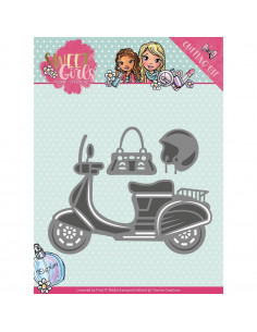 Fustella Yvonne Creations Sweet Girls - Scooter YCD10120