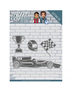 Fustella Yvonne Creations Wild Boys - Racing YCD10117