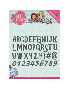 Fustella Yvonne Creations Sweet Girls - Lovely Alphabet YCD10121
