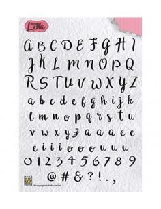 Set 84 Timbri Acrilico trasparente - Alphabet Lena ALCS001