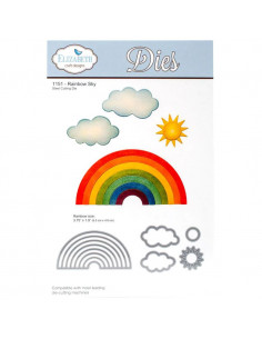 ELIZABETH CRAFT DIE - Rainbow Sky EC1151