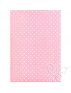 Feltro 3mm 50x70cm Pois Rosa Baby-Bianco 529921