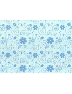 FELTRO 30x40cm 1mm Curly Flowers Celeste/Azzurro/bianco  25013016
