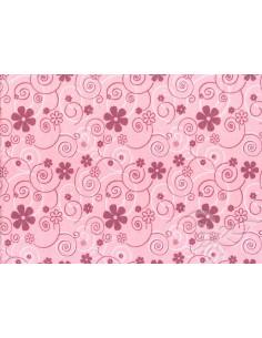Feltro 1m 30x40cm Curly Flowers Rosa-Lilla-Bianco 25013044